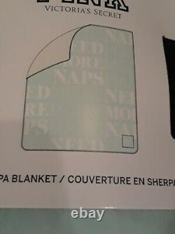 Victoria Secret Pink Sherpa Blanket Need More Naps Limited Editiom Exvlusive New
