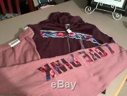 Victoria Secret Pink TROPICAL Floral Full Zip Hoody & Boyfriend Pant set L