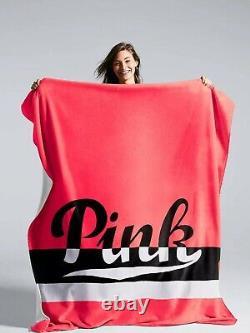 Victoria Secret Vs Pink Black Friday Limited Edition Pink Sherpa Blanket New