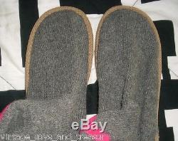 Victoria's Secret Gray Pink Mukluks Knee High Sock Slipper Boots Shoes Large 8 9