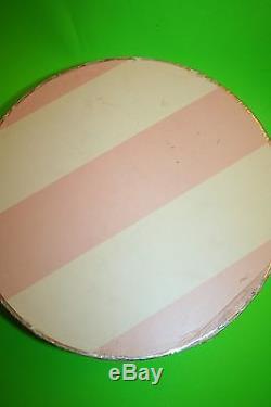 Victoria's Secret Hat Boxes Display Props Pink White Nesting 3 Set Striped Paris