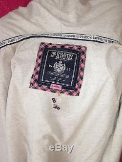 Victoria's Secret Hoodie Jacket SEQUIN GLITTER Bling Sweatshirt XS PiNK NWT