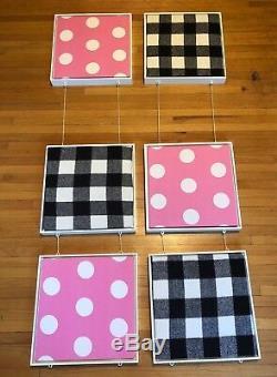 Victoria's Secret PINK 6pc polka dot grid window display