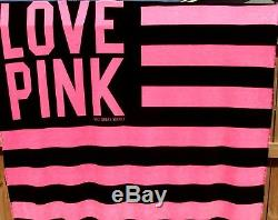 Victoria's Secret PINK Blanket Throw Bed Cover Plush JUMBO 60X72 NEW AUTHENTIC