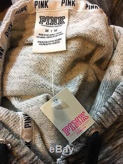 Victoria's Secret PINK Bling Sequin Hoodie & Skinny Pant Set Medium M NWT RARE