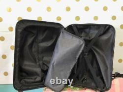 Victoria's Secret PINK Blue Marble Wheelie Hard Case Handle Suitcase Luggage NWT