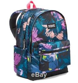 Victoria's Secret PINK Campus Backpack MultiColored Floral Bookbag NWT Sold Out