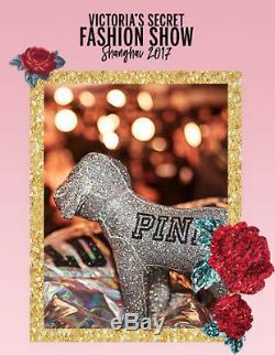 Victoria's Secret PINK Display Stuffed Dog Iridescent Glitter BLING NEW! Large