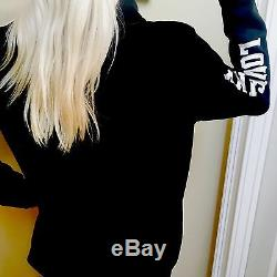 Victoria's Secret PINK Half Zip Pullover Sweatshirt Leopard L Large
