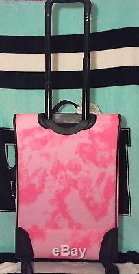 Victoria's Secret PINK Logo Tie Dye Wheelie 21 Spinner Luggage Carry On NWT