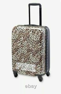 Victoria's Secret PINK Logo Wheelie Suitcase Hard Case Carry on NEW