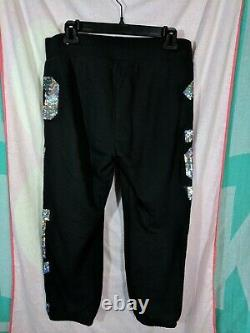 Victoria's Secret PINK Sequin Bling LOVE PINK 86 Hoodie & Pants Set NWT MEDIUM