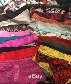 Victoria's Secret Panty Lot Of 20 Size SMALL Wholesale Resale VS & VS PINK NWT