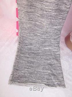 Victoria's Secret PiNK Hoodie Boyfriend Sweatpants Sweatshirt Marled 2PC NWT M