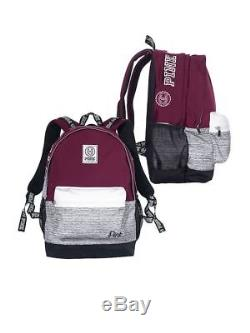 Victoria's Secret Pink Campus Backpack Black Orchid Burgundy Maroon Red VS