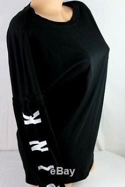 Victoria's Secret Pink Campus Shirt Dog Logo Long Lace Upsleeve Xsmall D128