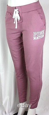 Victoria's Secret Pink Campus Sweatpant Lace Up Front Logo Size Large New Sp27