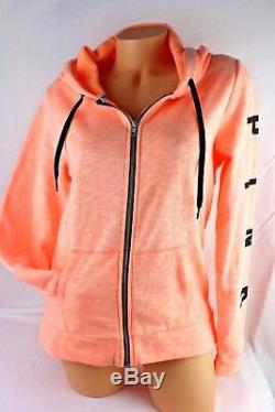 Victoria's Secret Pink Full Zip Hoodie Graphic Size Xsmall New Bl172