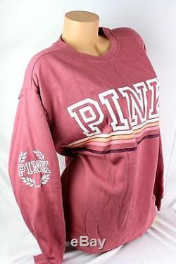 Victoria's Secret Pink Graphic Pullover Sweatshirt Size Medium New Bl59