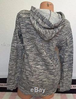 Victoria's Secret Pink Gray Marl Purple Yellow Ombre Logo Pullover Hoodie S