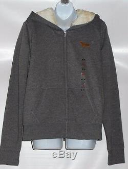 Victoria's Secret Pink Limited Edition 2013 Bling Sequin Fur Lined Hoodie M NWT