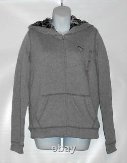 Victoria's Secret Pink Limited Edition Bling Sequin Faux Fur Lined Hoodie S NWT