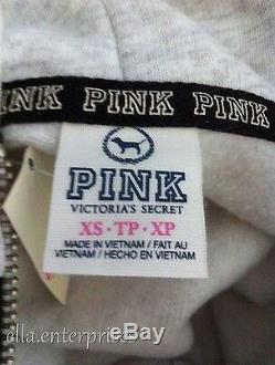 Victoria's Secret Pink Miami Sequin Bling Flamingo Zip Up Hoodie Jacket -XS NWT