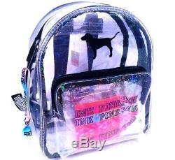Victoria's Secret Pink Mini Campus Backpack Iridescent Dog Hair Ties $39