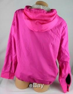 Victoria's Secret Pink Sherpa Lined Hoodie Anorak Windbreaker Jacket Xs/s Ja21
