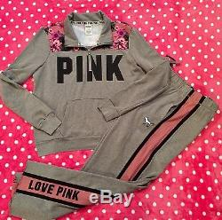 Victoria's Secret Pink Tropical Floral Boyfriend 4-Piece Set New Crew Socks