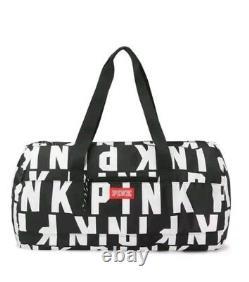 Victoria's Secret Pink logo 5 pcs. Wheelie blanket duffel bag bottle lanyard NEW
