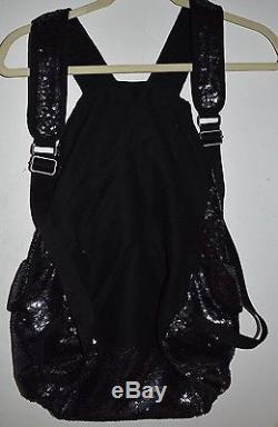 Victoria's Secret VS PINK Midnight Navy Blue Sequin Backpack Book Bag