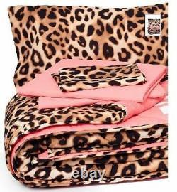 Victoria's Victorias Secret PINK Leopard BED IN BAG Comforter REVERSIBLE Twin