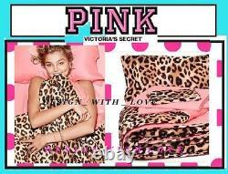 Victoria's Victorias Secret PINK Leopard Bed in a Bag Comforter REVERSIBLE SET