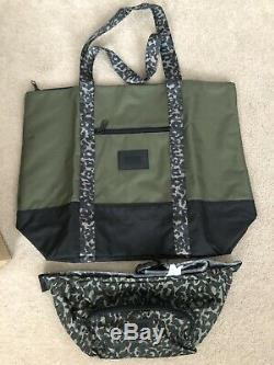 Victoria secret pink camouflage Wheelie matching duffle bag and waist pouch new