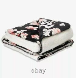 Victoria secret pink sherpa blanket Black Lily NEW