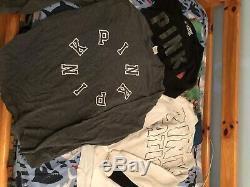 Victoria secret pink sweatshirts & long sleeve shirts Lot size medium and large