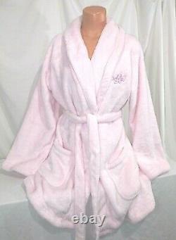 Victorias Secret ANGEL Cozy Short Robe SUPER PLUSH & SOFT Light Pink NWT M / L