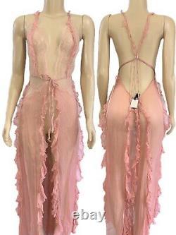 Victorias Secret Designer Collection Long SILK Lingerie Slip Nightie Small