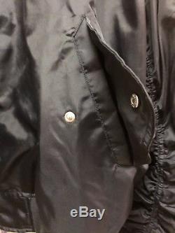 Victorias Secret PINK $90 Flight Black Jacket L Bling Back Zipper Oversized NIP