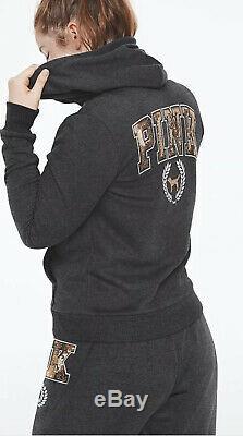 Victorias Secret PINK Bling Sherpa Hoodie Pullover & Leggings Set L