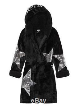 Victorias Secret PINK Bling Sleeves Hooded Robe Size Med/ Large