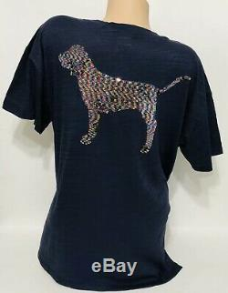 Victorias Secret PINK Dog Bling Tee Shirt & Leggings Set Large/XL Oversized