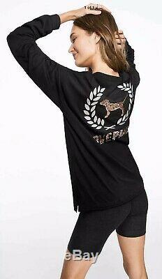 Victorias Secret PINK NWT Graphic Bling Campus T-shirt Pants Set M L/XL