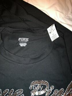 Victorias Secret PINK Pants & Tee Shirt Bling Set Sweatpants size S