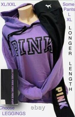 Victorias Secret PINK Pullover Hoodie & Leggings UPIK Set Lavender L XL XXL