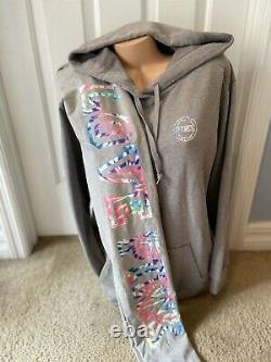 Victorias Secret PINK Pullover Hoodie Sweatshirt & Leggings RARE SetL/XL