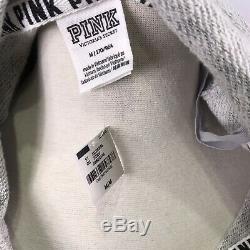 Victorias Secret PINK Sz M Hoodie & Sweatpants Tracksuit Outfit Set Gray, Logo