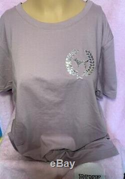 Victorias Secret PINK Tee Shirt & Leggings Bling Set L/XL Leggings Rare