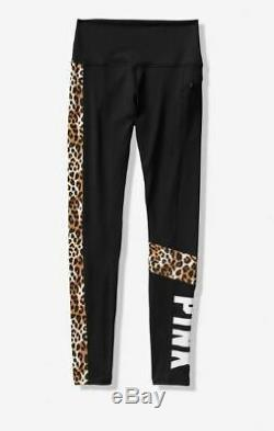 Victorias Secret PINK ULTIMATE HIGH WAIST COLORBLOCK LEGGING Medium M Leopard